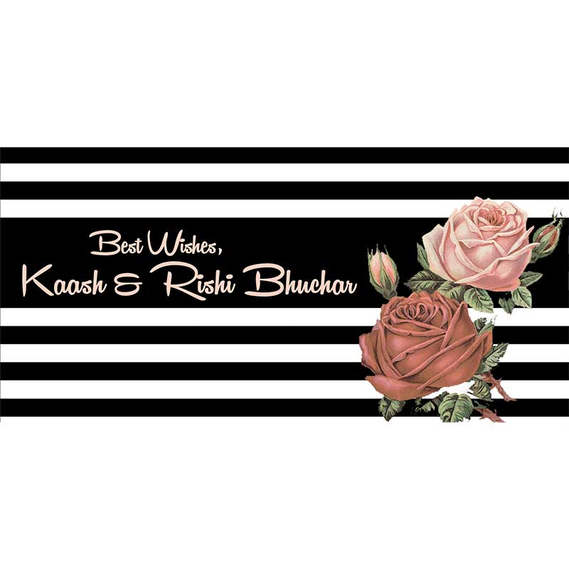 Personalised Envelopes - Stripes & Flowers, Set of 25