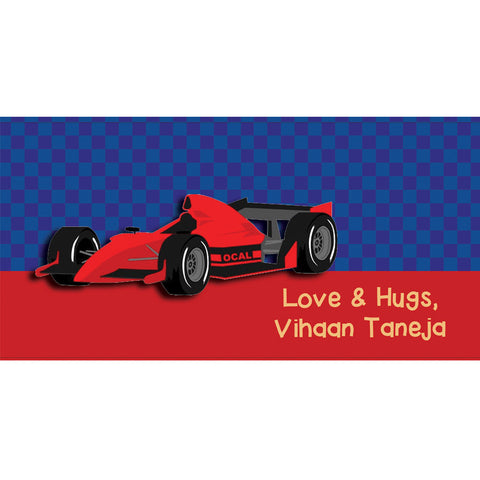 Personalised Envelopes - Racecar, Set of 25