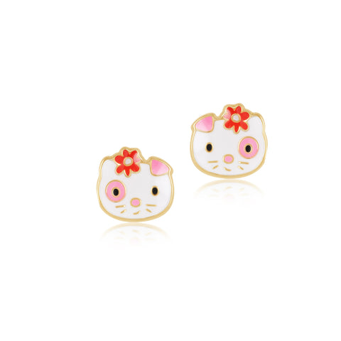 18K Gold Feline Splosh Earrings, Pugs & Paws Collection
