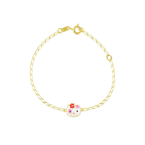 18K Gold Feline Splosh Bracelet, Pugs & Paws Collection