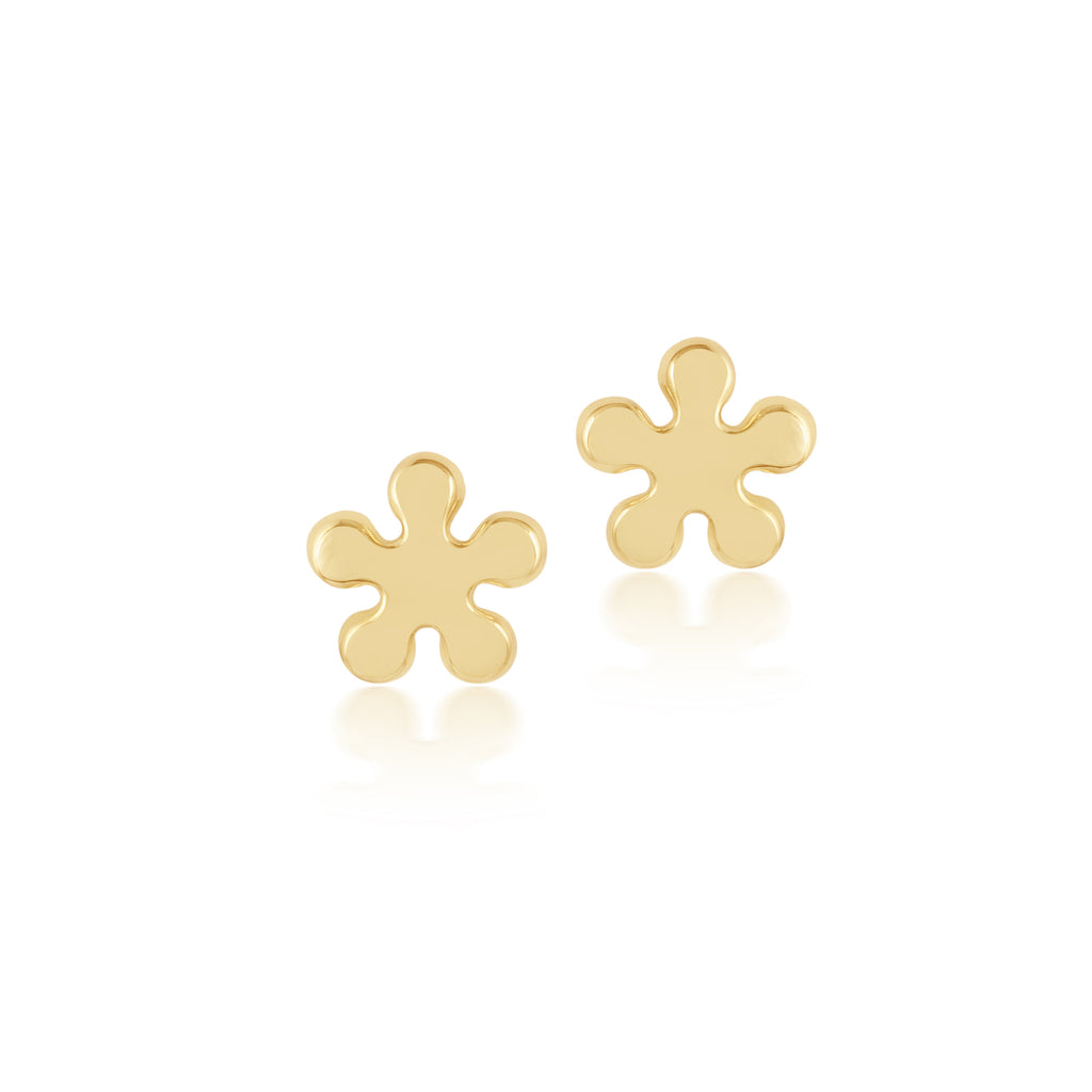 18K Gold Water Splash Earrings, Young at Art Collection