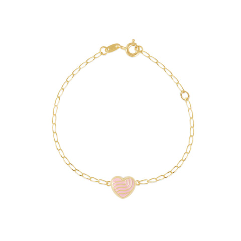 18K Gold Spiral Heart Bracelet, Young at Art Collection