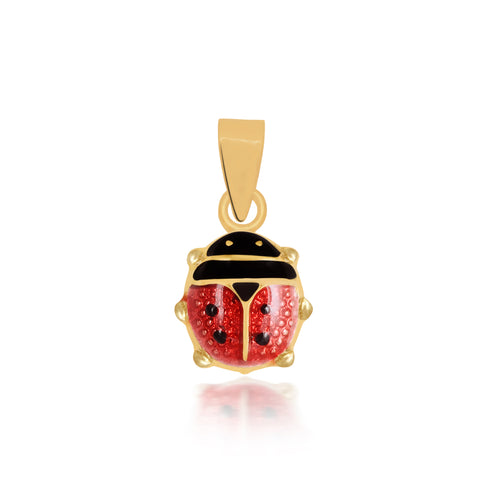 18K Gold Little Lady Bug Pendant, Bugs & Bees Collection