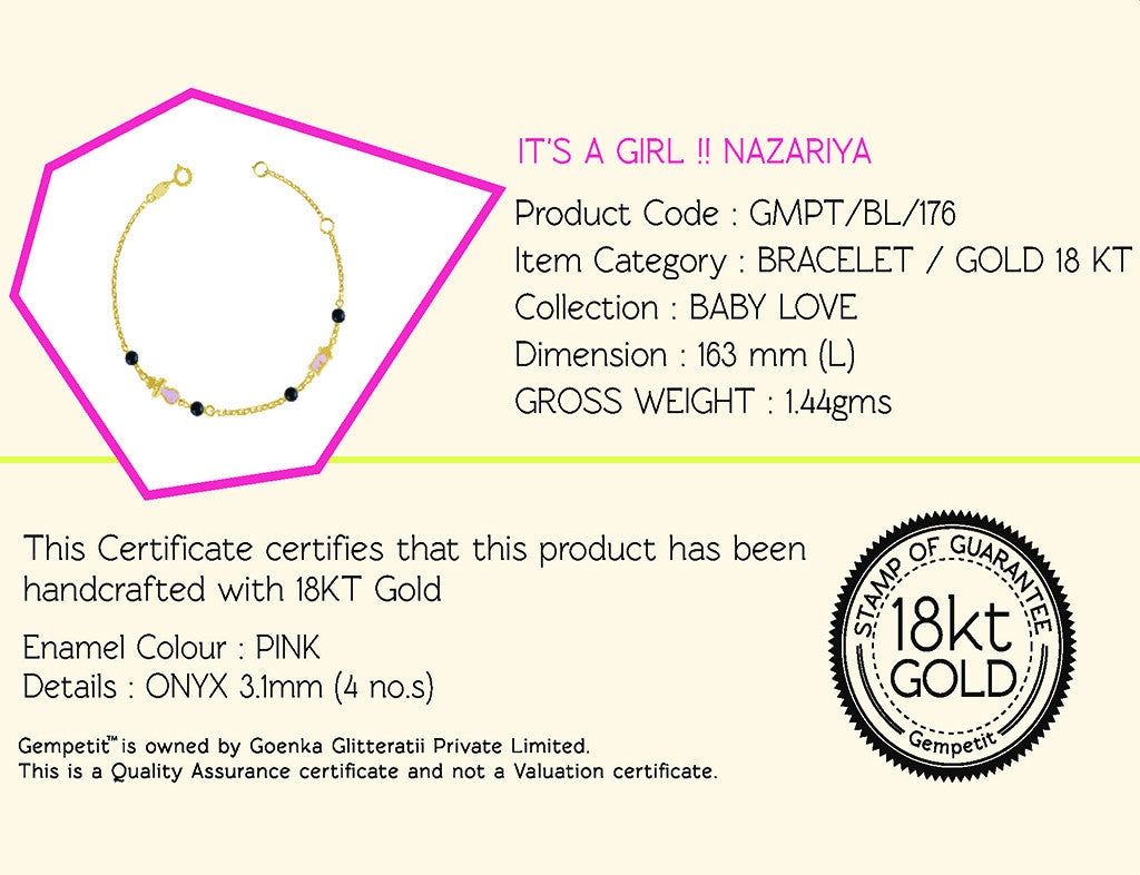 18K Gold It's a Girl!! Nazariya Bracelet, Baby Love Collection