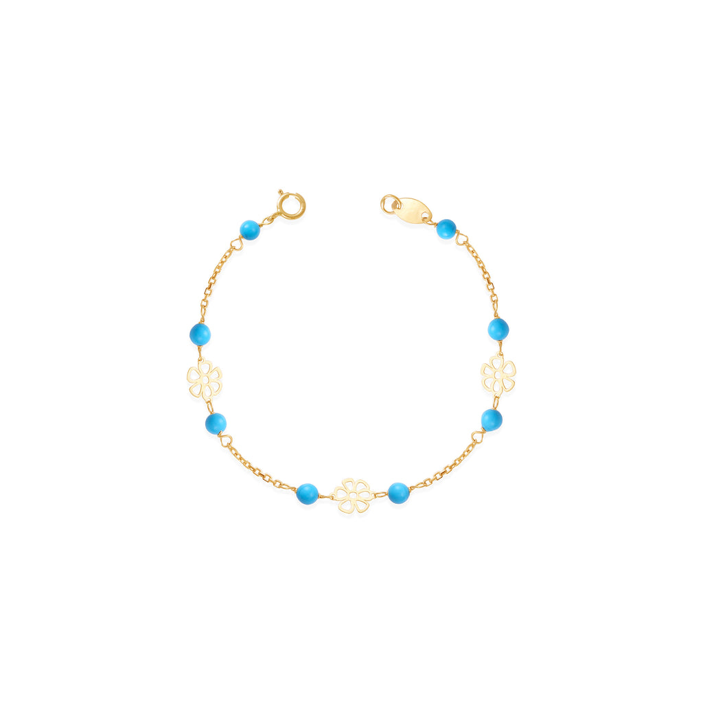 18K Gold Turquoise Bracelet, Le Fleur Collection