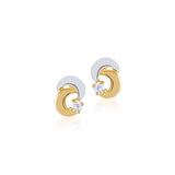 18K Gold Crescent Moon Earrings, Bows & Ties Collection