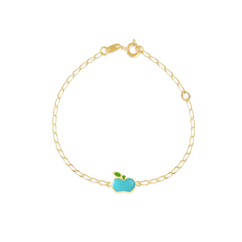 18K Gold An Apple A Day Bracelet, Gemberry Collection