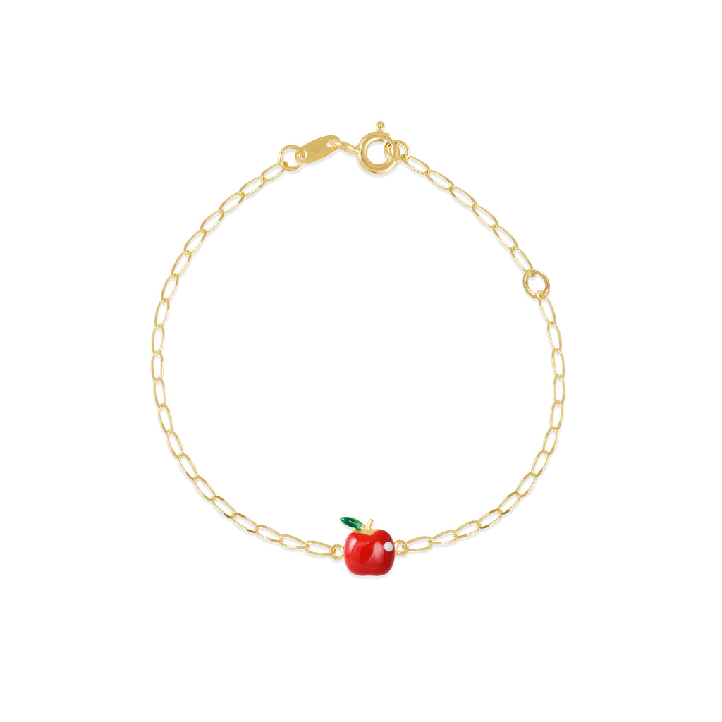18K Gold Red Apple Bracelet, Gemberry Collection
