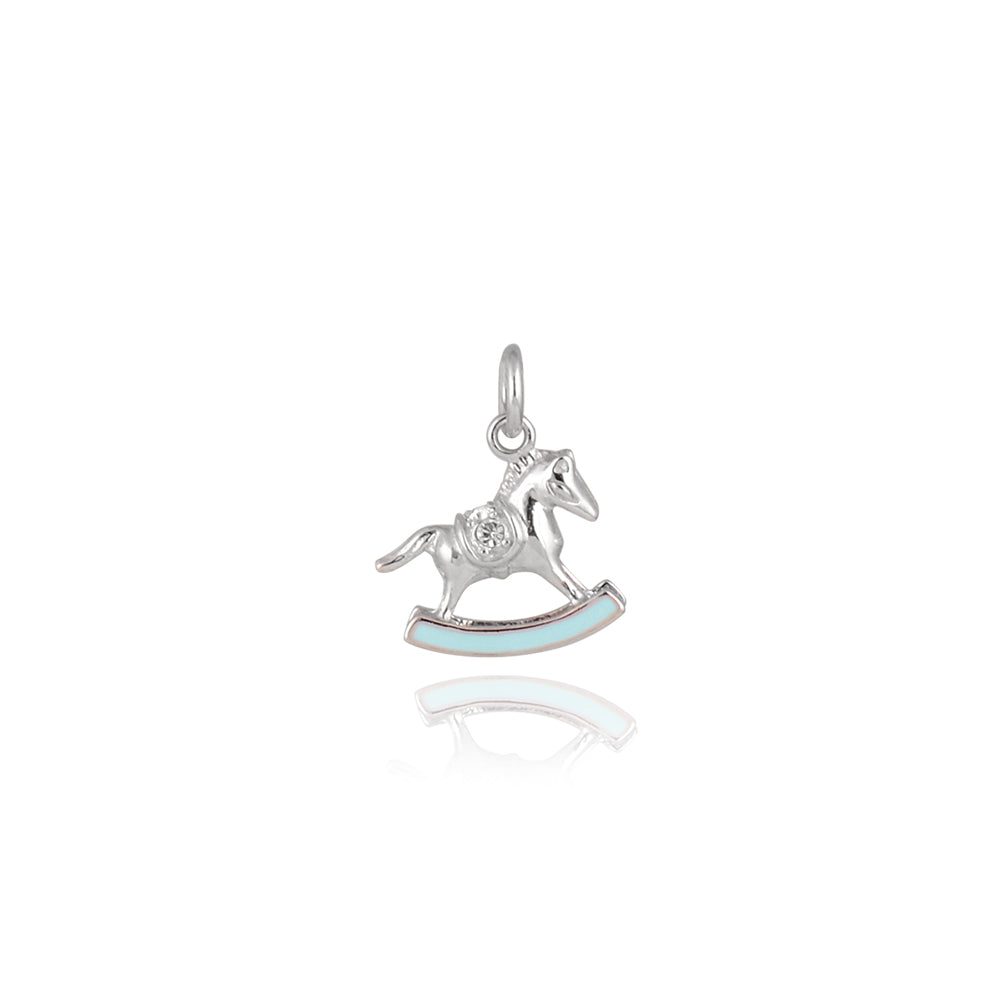 Rocking Horse Pendant in Silver, Gold Plated Collection