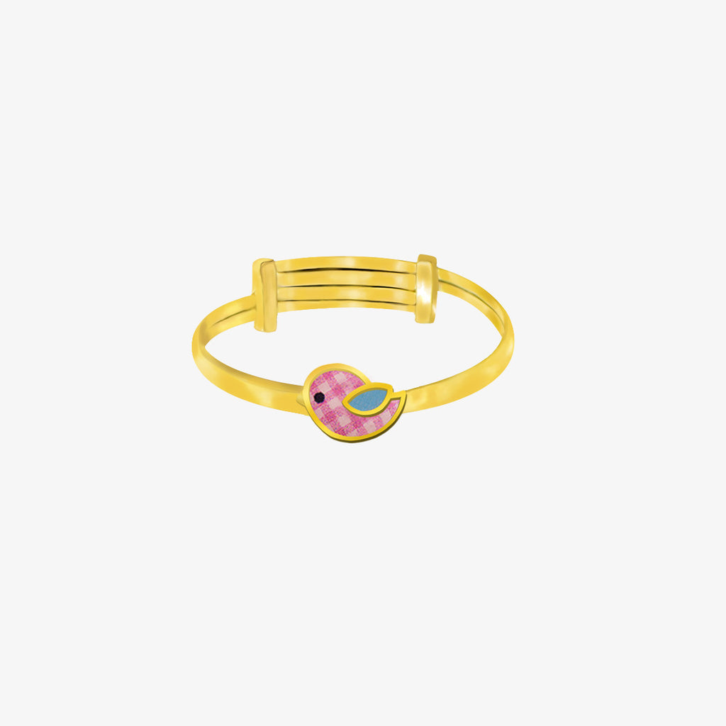 18K Gold The Proud Little Puffin Bird Ring, Storybook Collection
