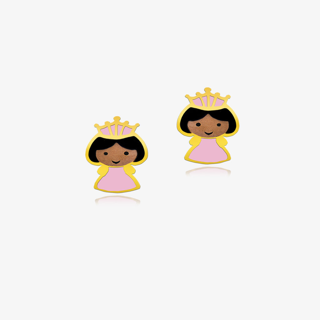 18K Gold Princess of a Faraway Castle Earrings, Storybook Collection