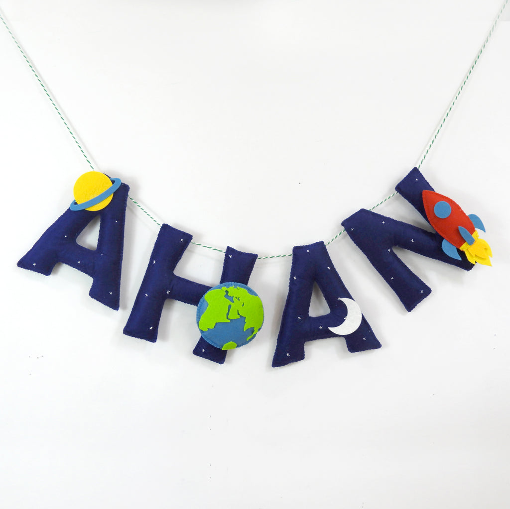 Personalised Space Name Bunting - Price per Letter