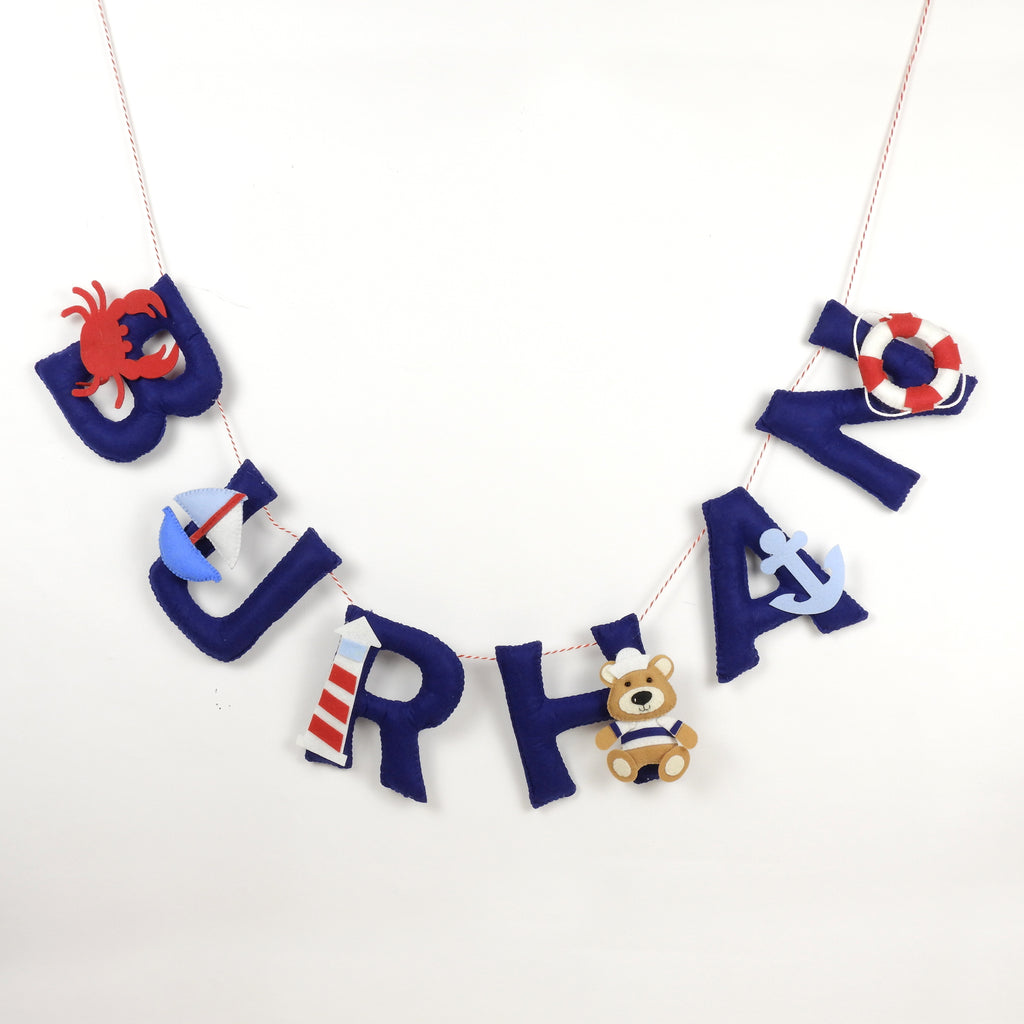 Personalised  Nautical Theme Name Bunting - Price per Letter