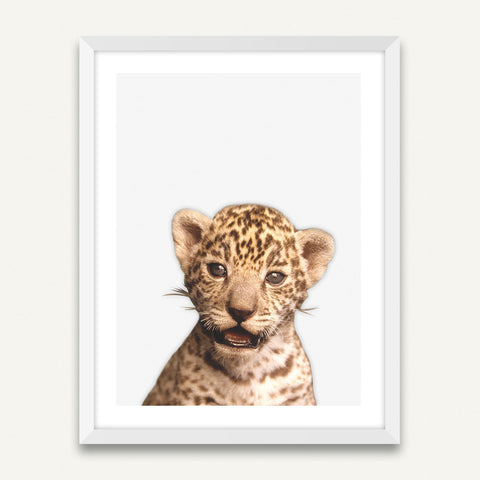Little Leopard - Minimalist Framed Wall Art