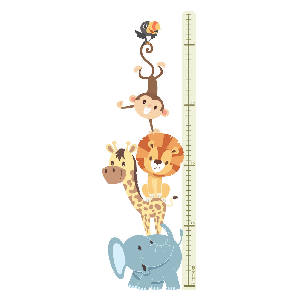 Height Chart Sticker -  Animals