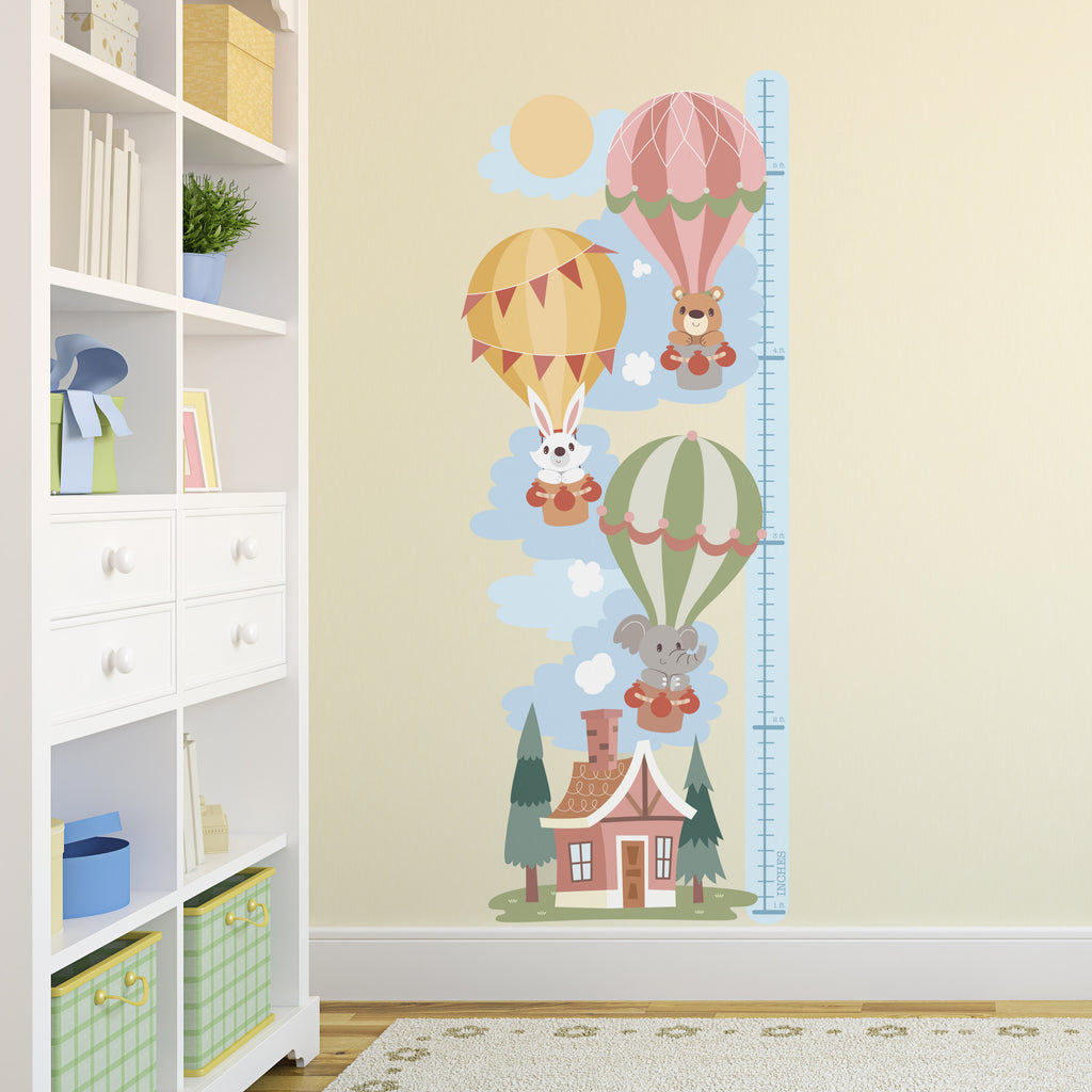 Height Chart Sticker -  Hot Air Balloon