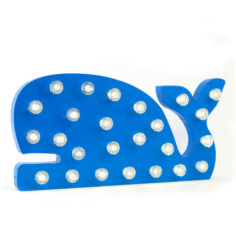 "Whale Marquee Light <br> <span style=""font-size: 10px;"">More Colours Available</span>"