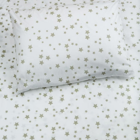 Bedsheet Set - Grey Stars - Single/Double Bed Sizes Available
