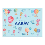 Personalised Sketch Book & Crayon Set - Hot Air Balloon