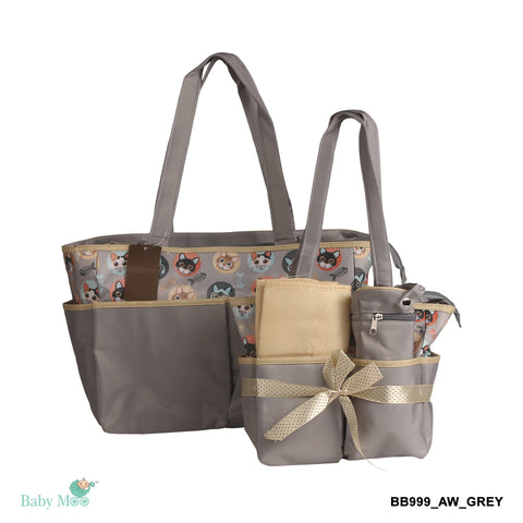 Kitty Grey Diaper Bag