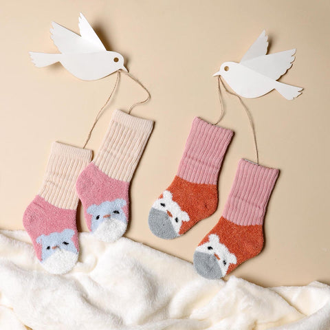 Happy Hamster Pink & Peach Socks - 2 pack (0-12M)