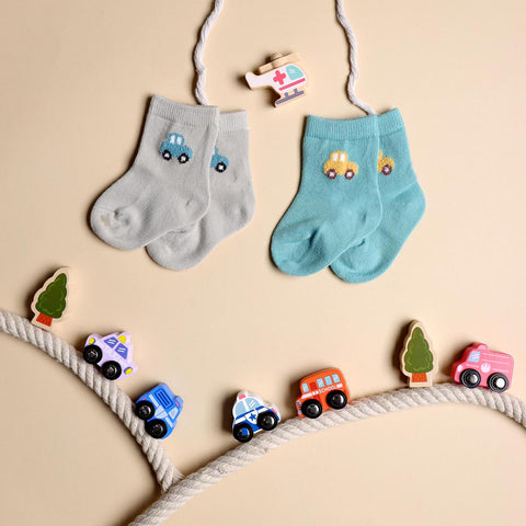 Hasta La Vista Blue & Grey Socks - 2 pack (0-12 Months)