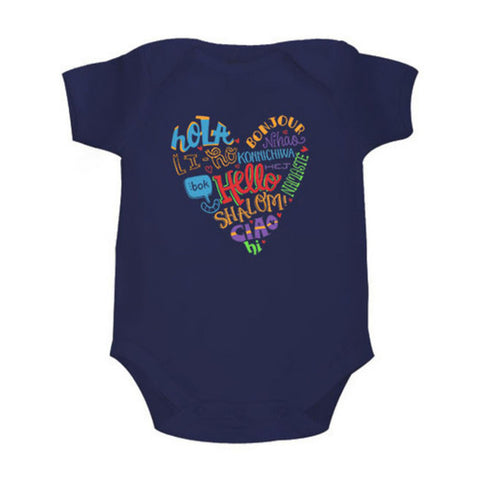 Hello! <br> Organic Cotton Onesie, Can be Personalised