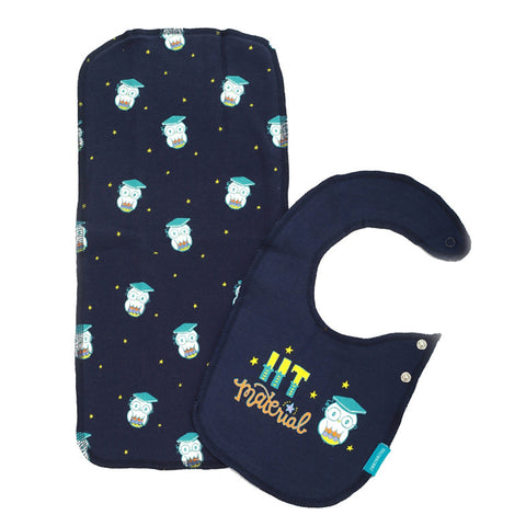 IIT Material - Bib & Burp Cloth Set (2pc)