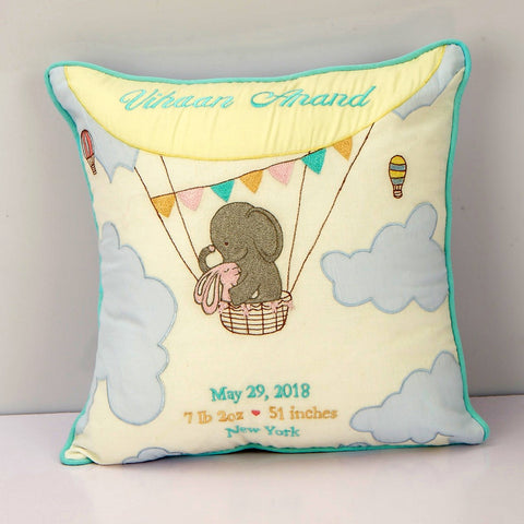 'Welcome Baby' Personalised Pillow - Fly Away
