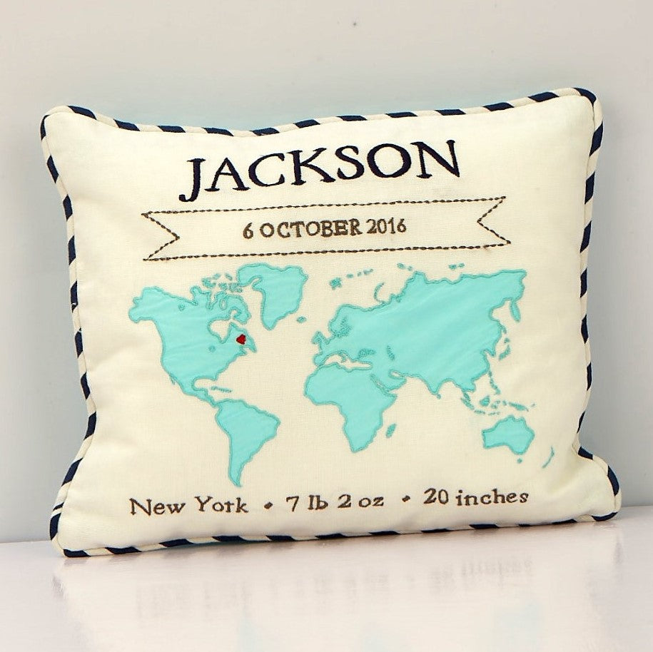 'My World' Personalised Pillow