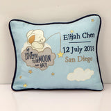 'Love You To The Moon' Personalised Pillow