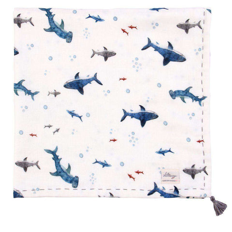Baby Shark Thick Muslin Blanket
