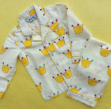 Kid's Pyjama Set - Yellow Crown