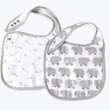 Classic Organic Muslin Bibs - Counting Sheep, Set of 2