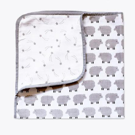 Masilo Organic Muslin Snuggle Blanket - Counting Sheep