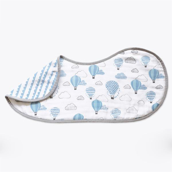 Masilo Organic Muslin Burp & Cloth Bib - Up, Up & Away(Blue)