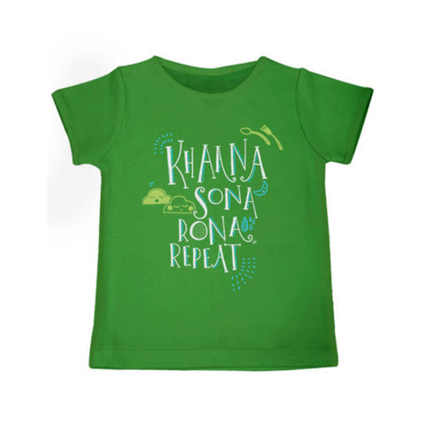 Khaana Sona Rona Repeat - Organic Cotton Tees for Toddlers