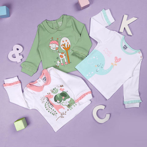 Kisses & Wishes Girls Everyday Essentials - 3 pack (NB, 0-24M)