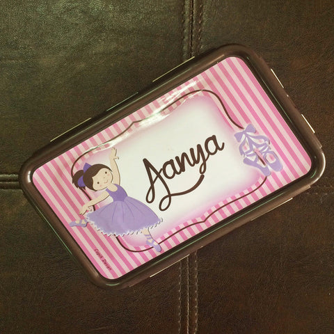 Personalised Lunch box - Purple Princess
