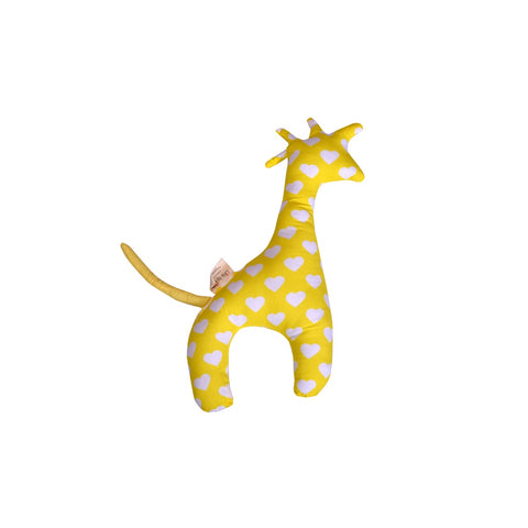 Little By Little Plush/Huggy/Toy Cushion - Boo The Giraffe Pillow, Yellow
