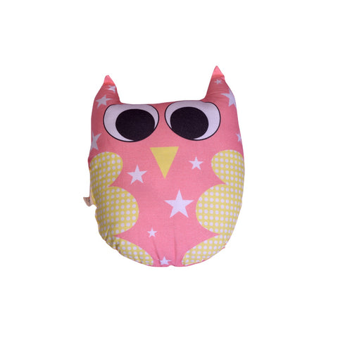 Little By Little Plush/Huggy/Toy Cushion - Ernie The Owl Pillow, Pink