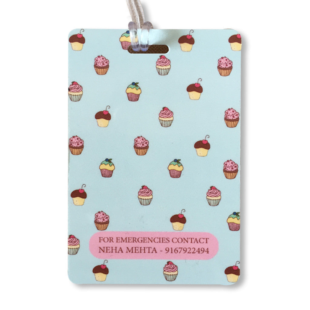 Luggage Tags - Cupcake Theme, Set of 2