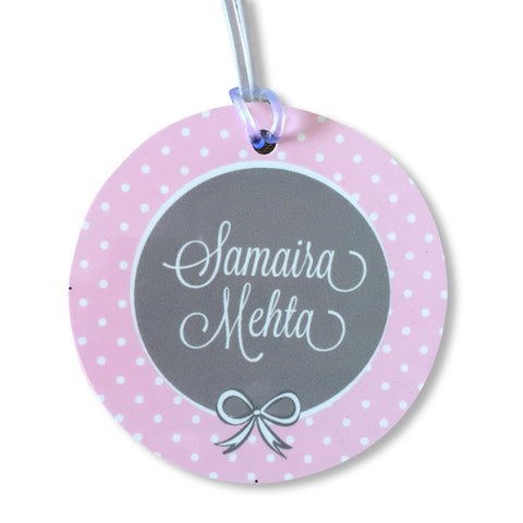 Luggage Tags - Little Lady (Round), Set of 2