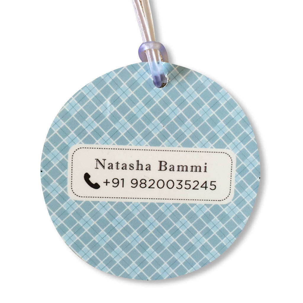 Luggage Tags - Little Man (Round), Set of 2