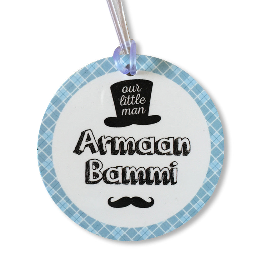 Luggage Tags- Little Man (Round) <br> Set of 2