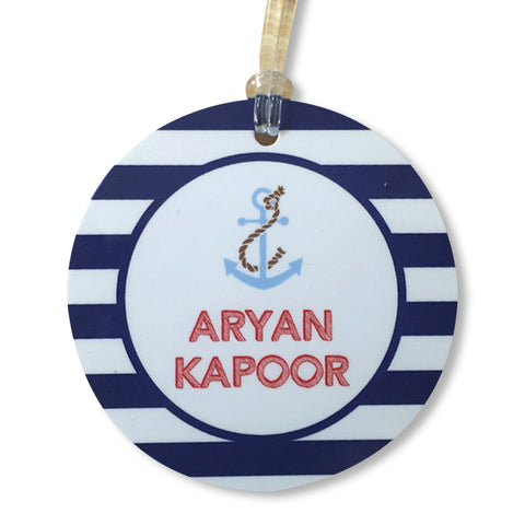 Luggage Tags - Nautical (Round), Set of 2