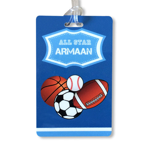 Luggage Tags - Sports Theme, Set of 2
