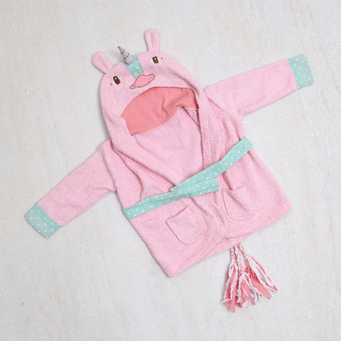 Unicorn Bath Robe Pink