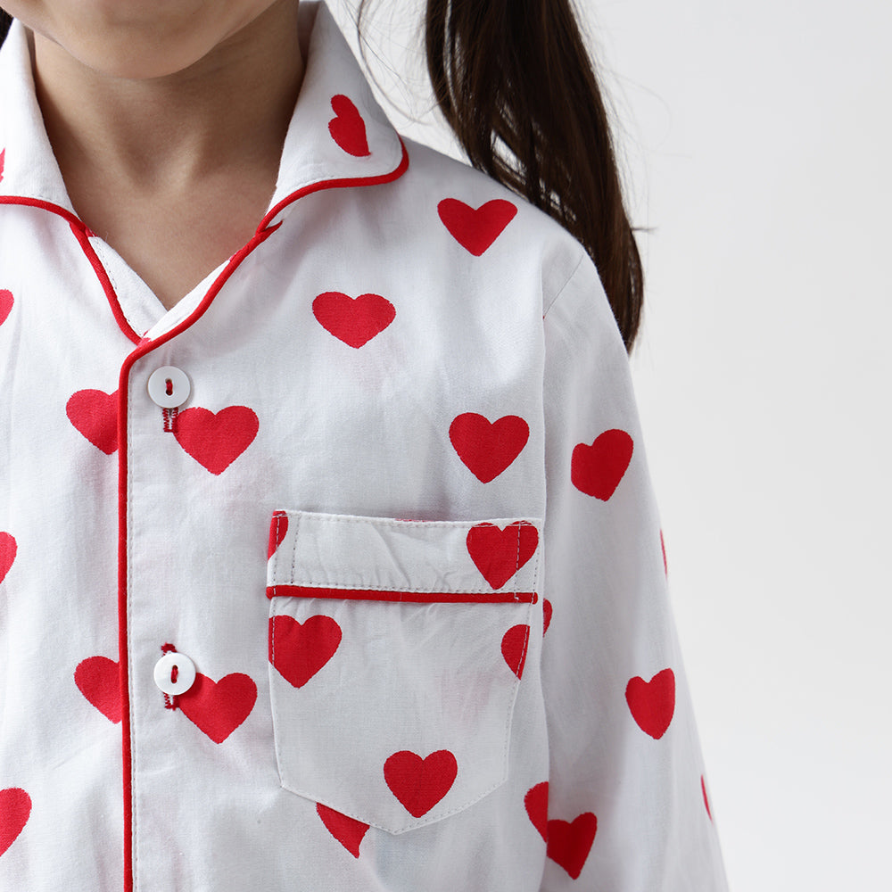 Red Hearts Pyjama Set