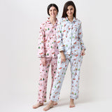 Santa's Workshop Pyjama Set for Women - Winter Blue